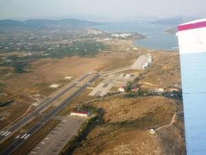 Over Megara airport